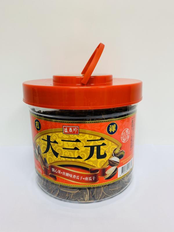 盛香珍.950g吉祥大三元(焦糖瓜子+南瓜子+開心果)