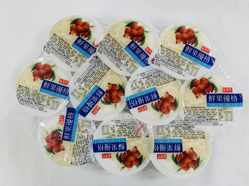 盛香珍.110g*10粒荔枝鮮果優格