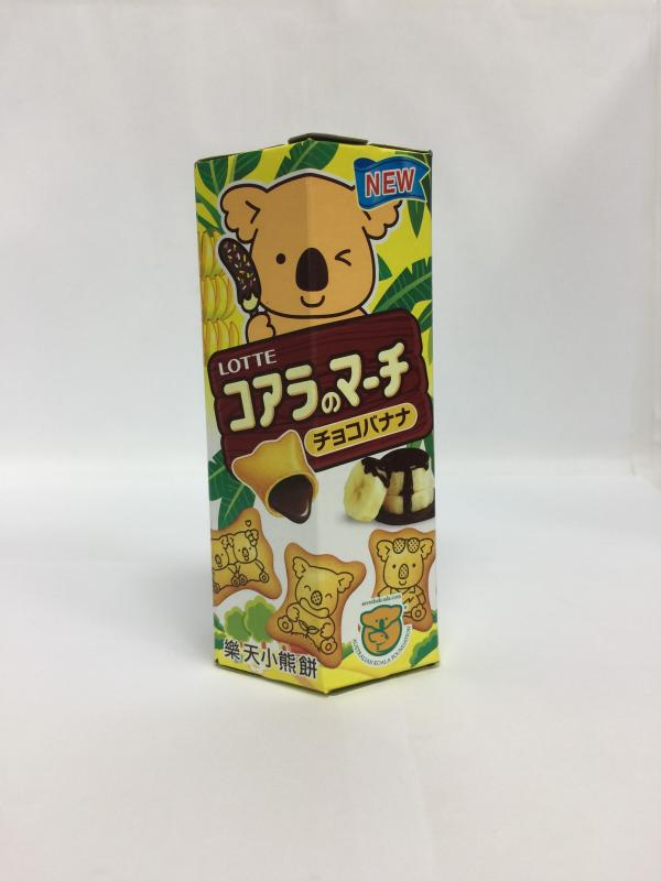 37g樂天小熊餅-香蕉巧克力