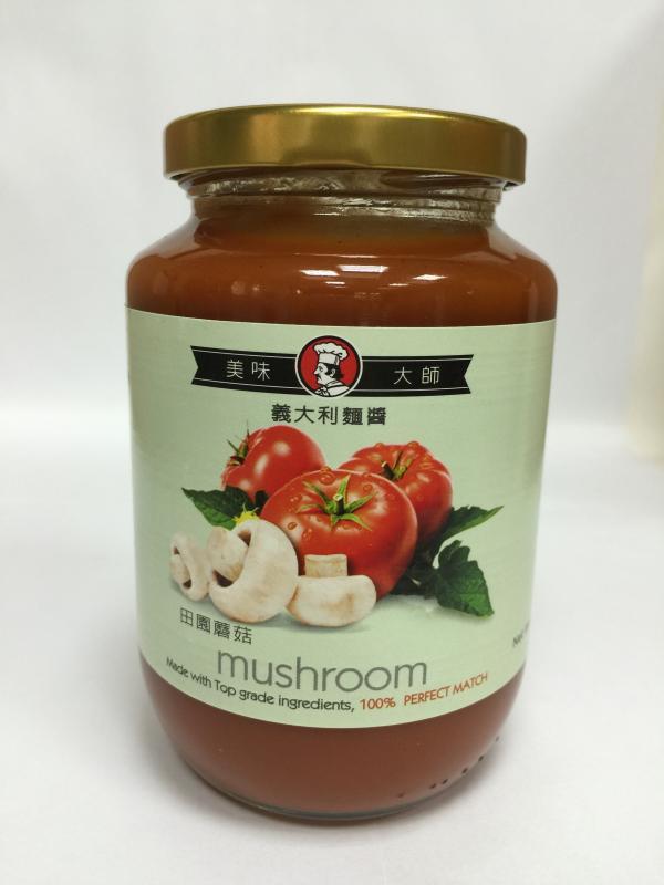 美味大師義大利麵醬-田園蘑菇