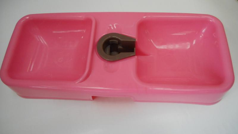 寵物用雙口碗給水器(粉.深藍)